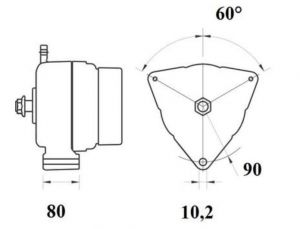 Генератор AAN5399 (MG 795, 11.209.611, IMA309611) - схема