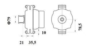 Генератор AAN5401 (MG 796, 11.209.612, IMA309612) - схема