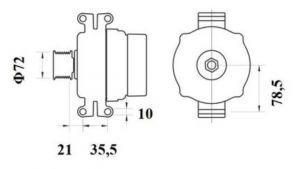 Генератор AAN5403 (MG 798, 11.209.614, IMA309614) - схема