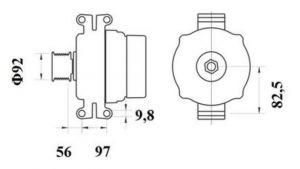 Генератор AAN5404 (MG 799, 11.209.615, IMA309615) - схема