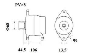 Генератор AAN5408 (MG 801, 11.209.619, IMA309619) - схема