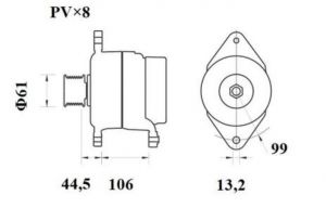 Генератор AAN5409 (MG 802, 11.209.620, IMA309620) - схема