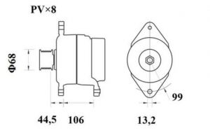 Генератор AAN5410 (MG 814, 11.209.621, IMA309621) - схема