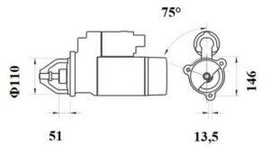 Стартер AZF4406 (IS9463) - схема