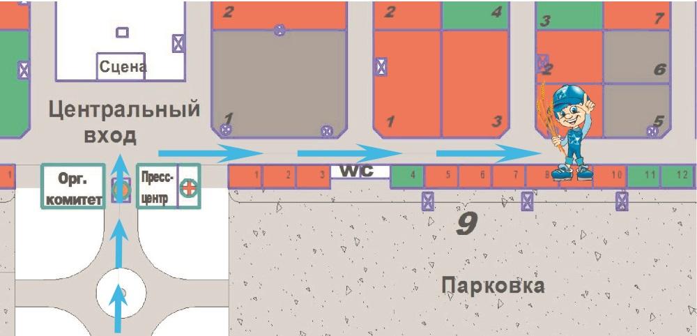 Схема прохода к стенду Искра АЕ